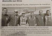 1ère place au marathon en relais de Rennes !